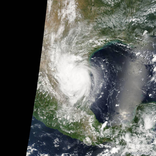 Satellite image of Hurricane Erika 2003