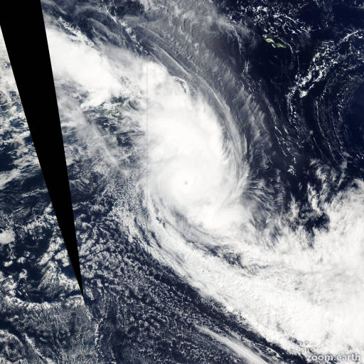 Satellite image of Cyclone Eseta 2003