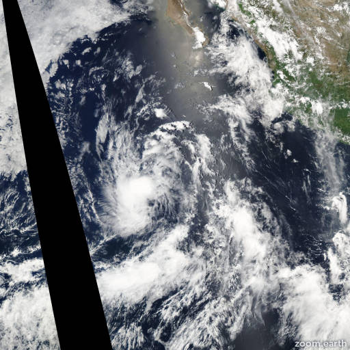 Satellite image of Storm Felicia 2003