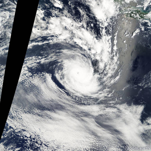 Satellite image of Cyclone Fiona 2003