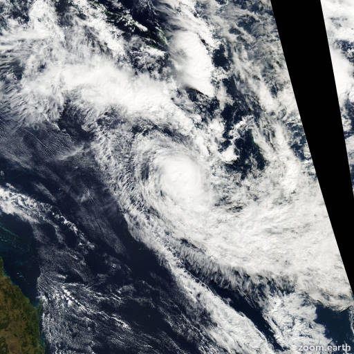 Satellite image of Cyclone Gina 2003