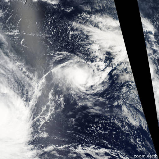 Satellite image of Cyclone Hape 2003