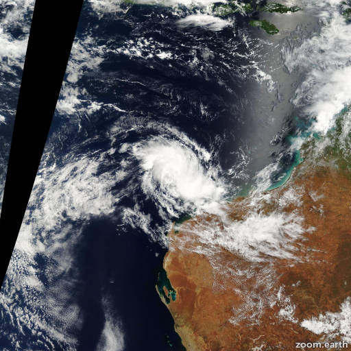 Satellite image of Cyclone Harriet 2003