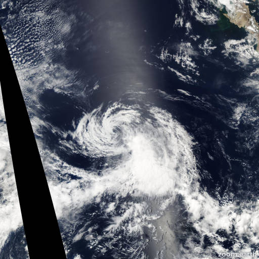 Satellite image of Storm Hilda 2003