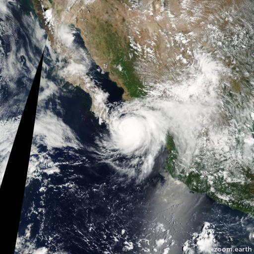 Satellite image of Hurricane Ignacio 2003