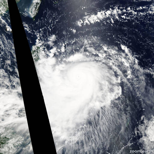 Satellite image of Typhoon Imbudo 2003