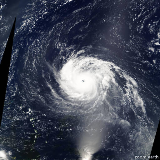 Satellite image of Hurricane Isabel 2003