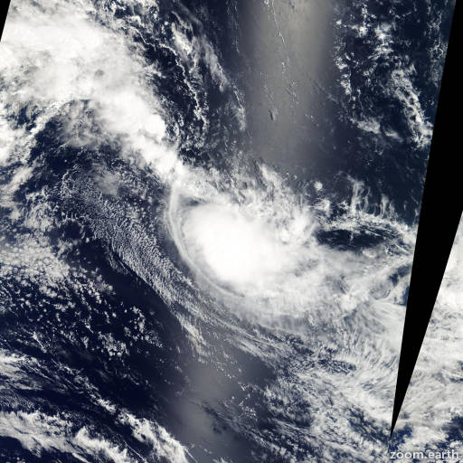 Satellite image of Storm Isha 2003