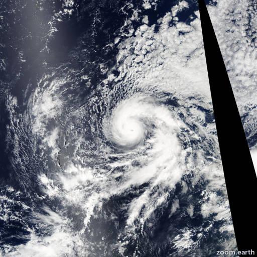 Satellite image of Hurricane Jimena 2003