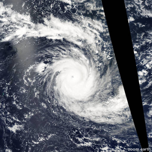 Satellite image of Cyclone Kalunde 2003