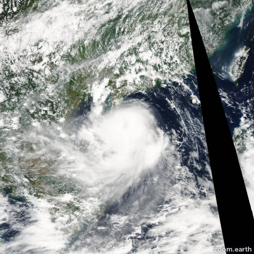 Satellite image of Storm Koni 2003