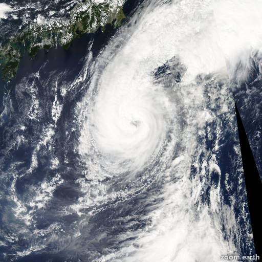 Satellite image of Typhoon Koppu 2003