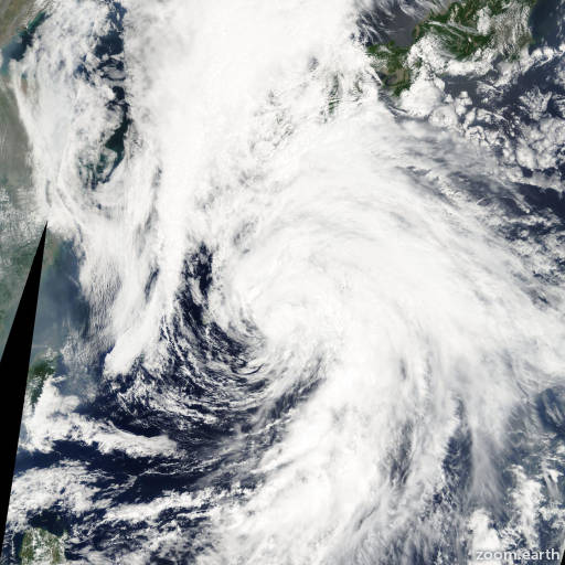 Satellite image of Storm Linfa 2003
