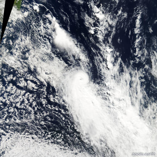 Satellite image of Cyclone Luma 2003