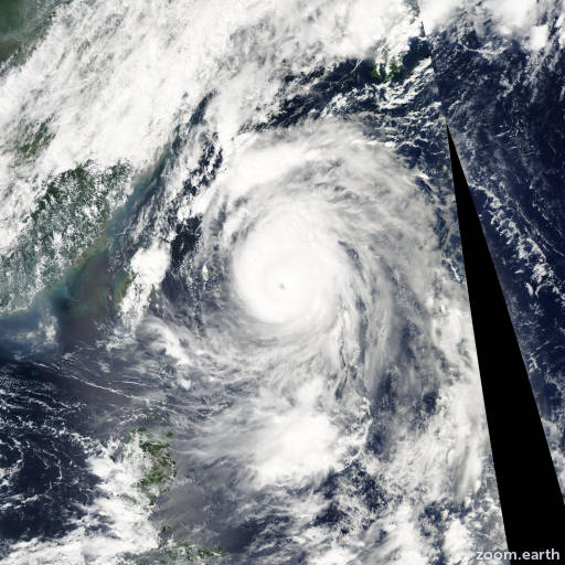 Satellite image of Typhoon Maemi 2003