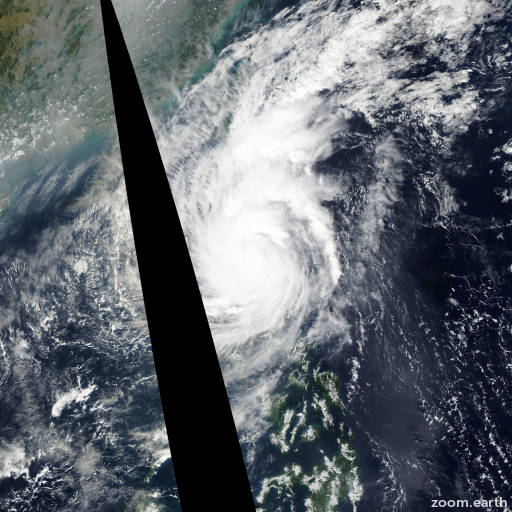 Satellite image of Typhoon Melor 2003