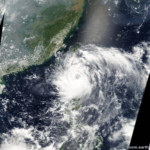 Satellite image of Storm Morakot 2003