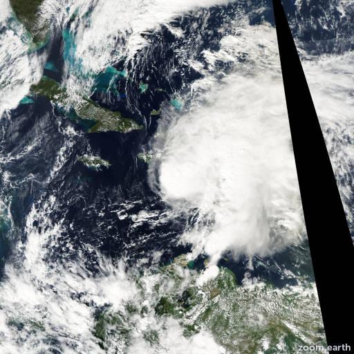 Satellite image of Storm Odette 2003