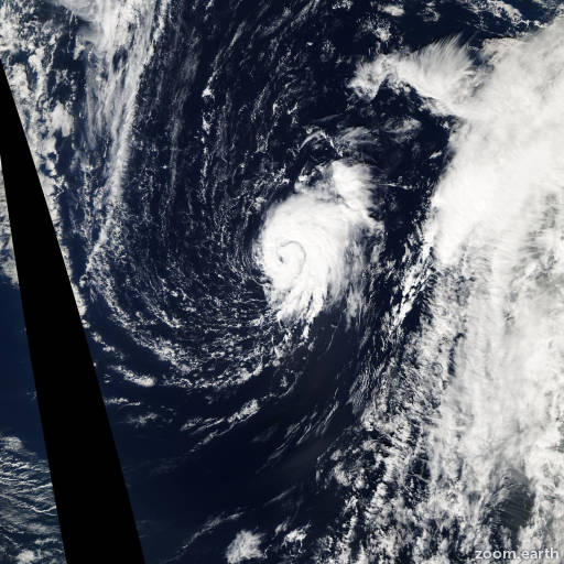 Satellite image of Storm Peter 2003