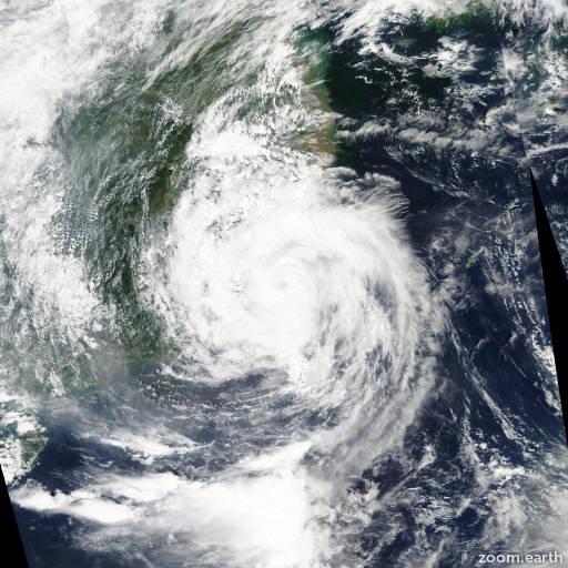 Satellite image of Typhoon Aere 2004