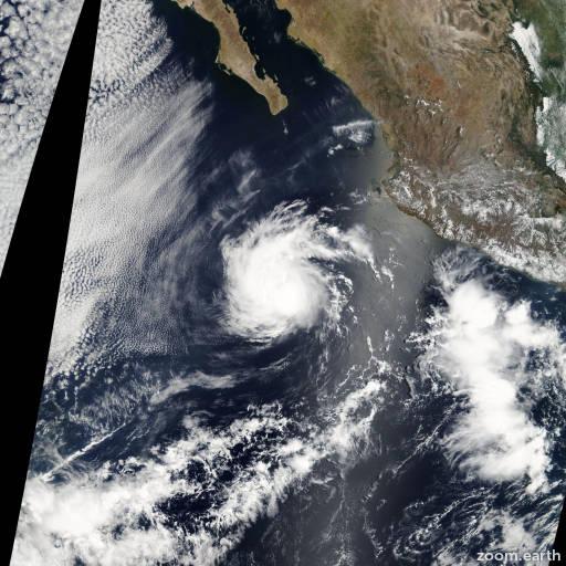 Satellite image of Storm Agatha 2004