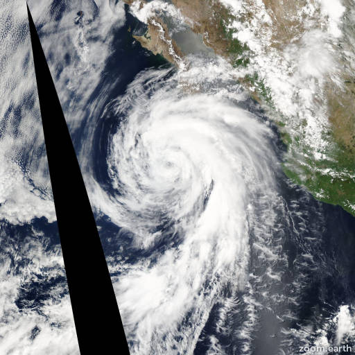 Satellite image of Storm Blas 2004