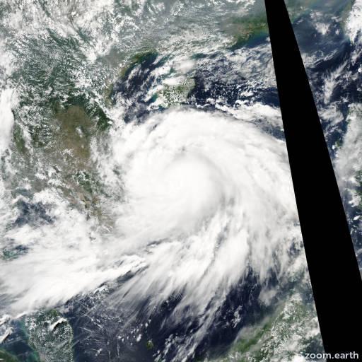 Satellite image of Typhoon Chanthu 2004