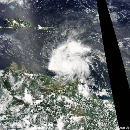 Satellite image of Storm Earl 2004
