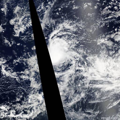Satellite image of Storm Estelle 2004