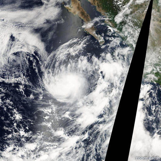 Satellite image of Storm Georgette 2004
