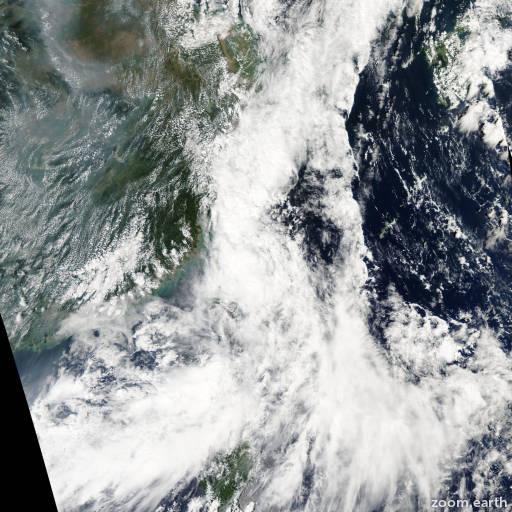 Satellite image of Storm Haima 2004