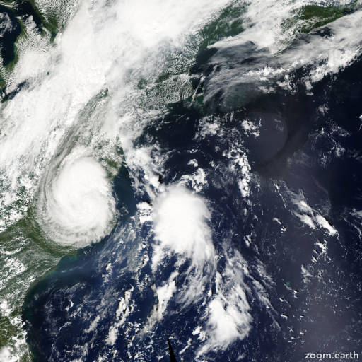 Satellite image of Storm Hermine 2004