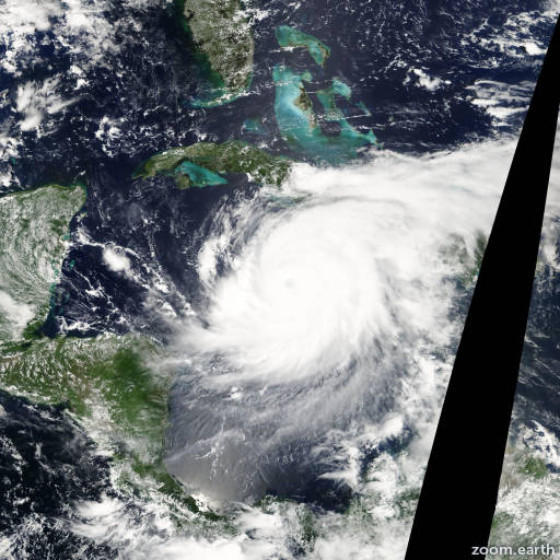 Satellite image of Hurricane Ivan 2004