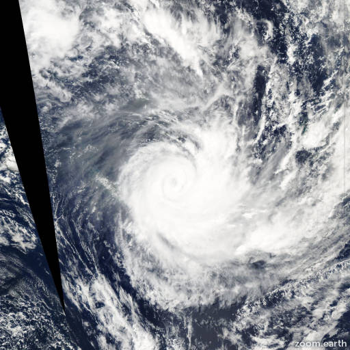 Satellite image of Cyclone Ivy 2004