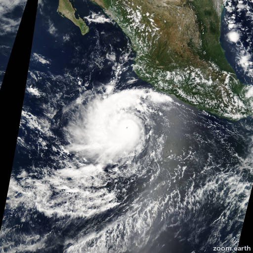 Satellite image of Hurricane Javier 2004