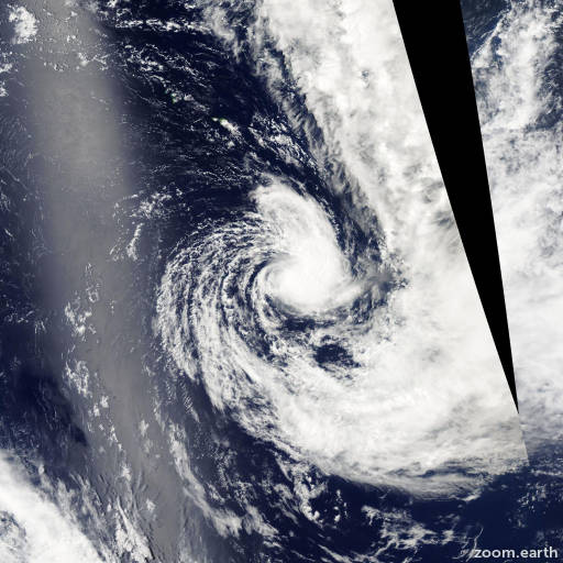 Satellite image of Cyclone Judy 2004