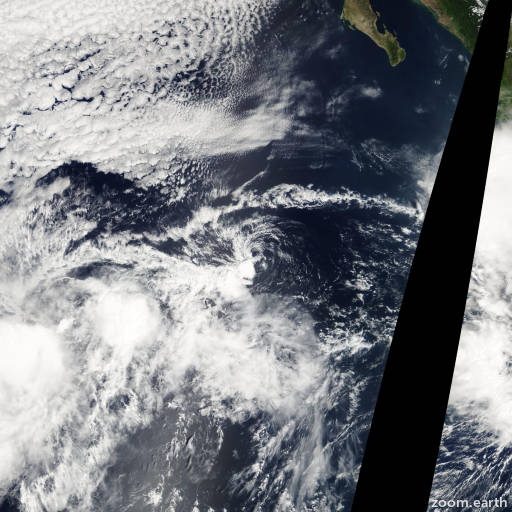 Satellite image of Storm Kay 2004