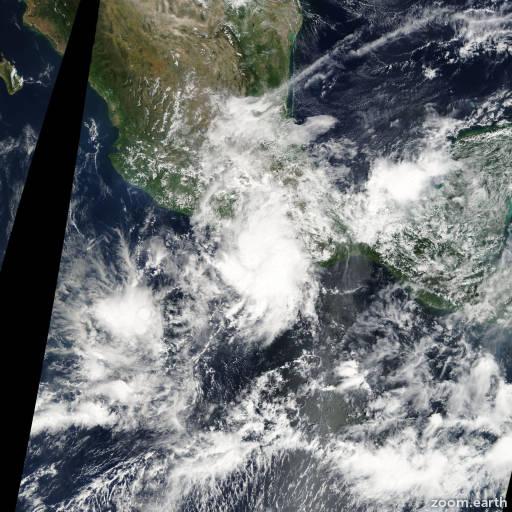 Satellite image of Storm Lester 2004