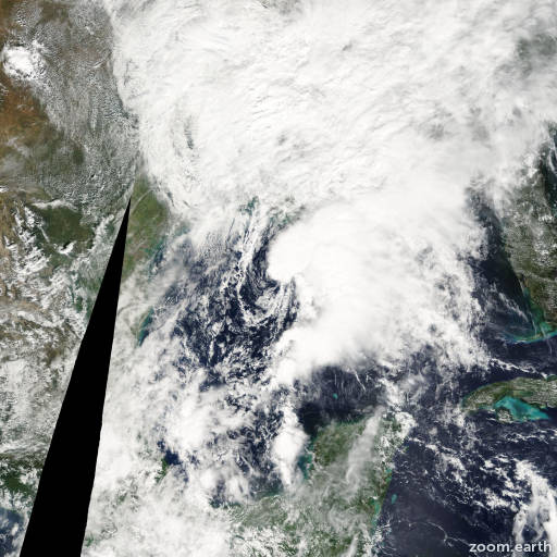 Satellite image of Storm Matthew 2004