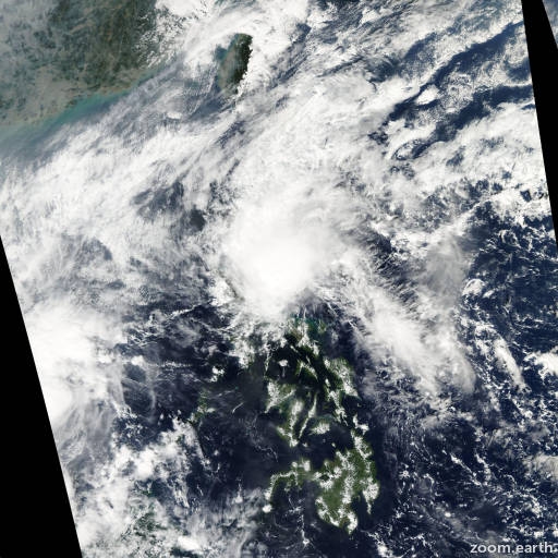 Satellite image of Storm Merbok 2004