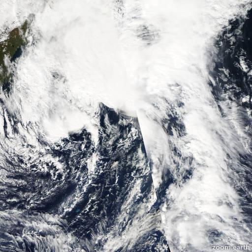 Satellite image of Storm Nicole 2004