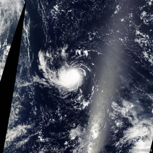 Satellite image of Storm Sarika 2004