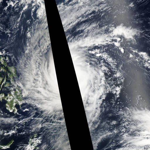 Satellite image of Typhoon Sudal 2004