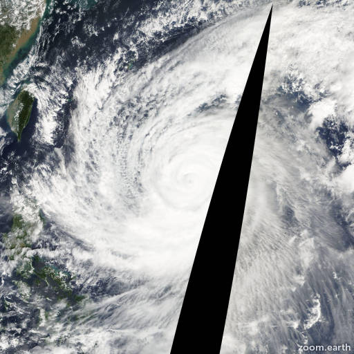 Satellite image of Typhoon Tokage 2004