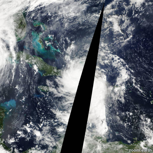 Satellite image of Storm Alpha 2005