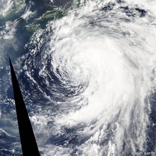 Satellite image of Storm Banyan 2005