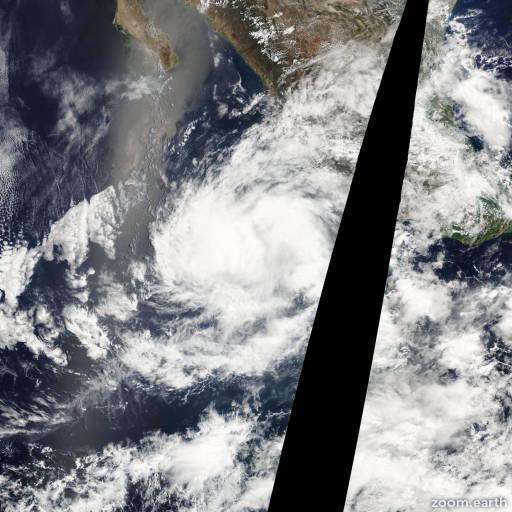 Satellite image of Storm Beatriz 2005