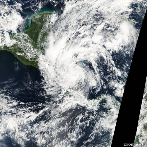 Satellite image of Hurricane Beta 2005