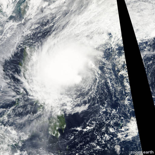 Satellite image of Storm Bolaven 2005