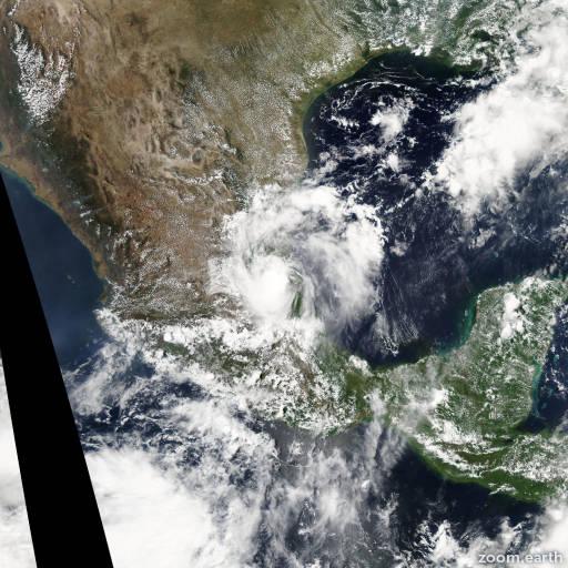 Satellite image of Storm Bret 2005